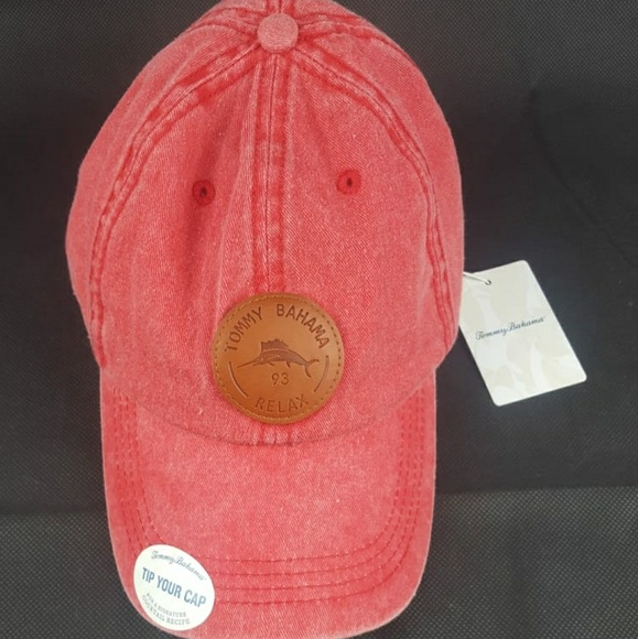 Red Tommy Bahama Cocktail Baseball Hat NWT